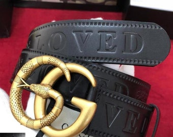 2c8c82b8400c Inspiré par Gucci ceinture, ceinture en cuir véritable pour gucci double G,  ceinture de classique de gucci, vintage gucci GG