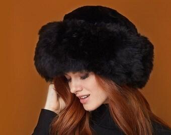 Camel Royal Fur Hat, Premium Baby Alpaca Fur Hat, Hat Made of Natural Alpaca Fur, Women's Winter Hats