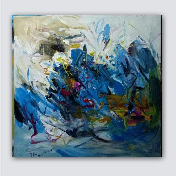 Original Abstract Painting Original Pop Art Canvas Contemporary Modern Painting Wall Art Contemporary Living Room
