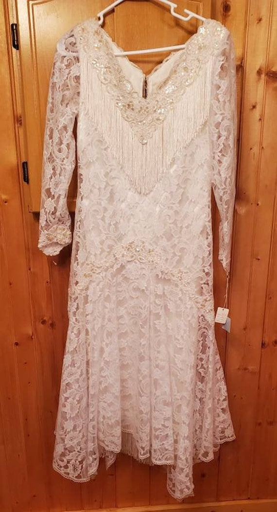 Vintage Wedding Dress, Martin McCrea Small New!