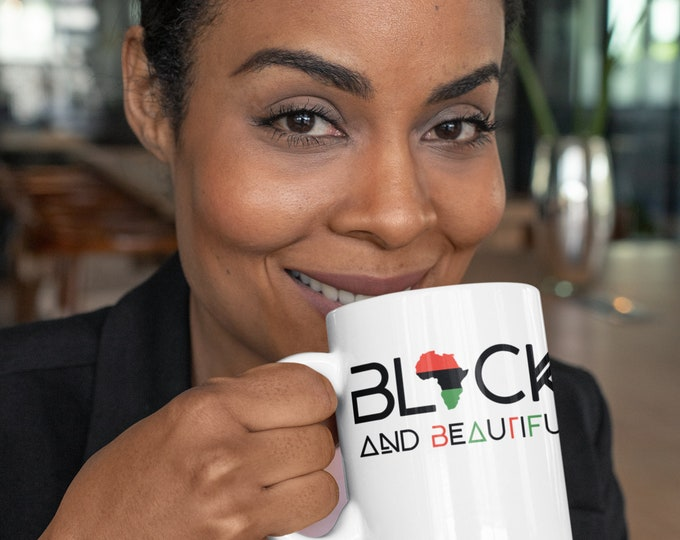 Black And Beautiful 11oz Mug, Mom gift, Dad gift, Birthday gift, African American gift