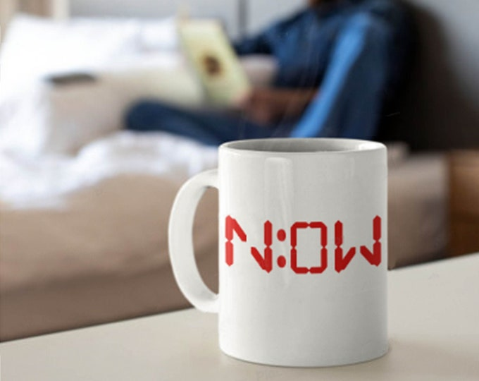 NOW 11oz Mug, Mom gift, Dad gift, Birthday gift, NBA Basketball gift, Time is Now, Office gift