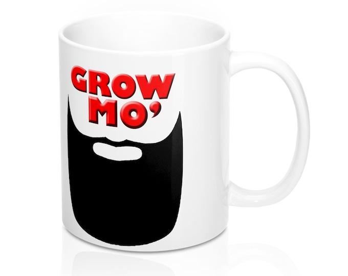 Grow Mo Beard 11oz Mug, 2019 New Year Resolution Mug, Beard Royalty Mug, Beard Gang Mug, Gift For Men, New Year gift, Dad gift, Fathers Day