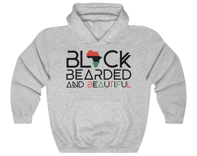 Black Bearded Beautiful Hoodie, Dad gift, Beard Gang hoodie, Gift for him, Birthday gift, Gift for Husband, Black Men gift