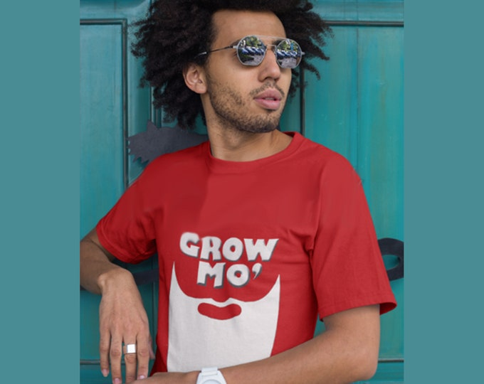 Grow More Beard t-shirt, 2019 New Year Resolution, Beard Gang Tee, Gift For Men with Beard, Barber gift, Gift for him, Dad gift