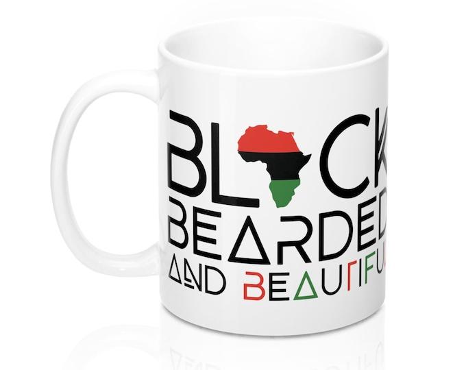 Black Bearded Mug, Black Bearded Beautiful 11oz Mug, Father's Day gift, Beard Gang mug, Gift for him, Birthday gift
