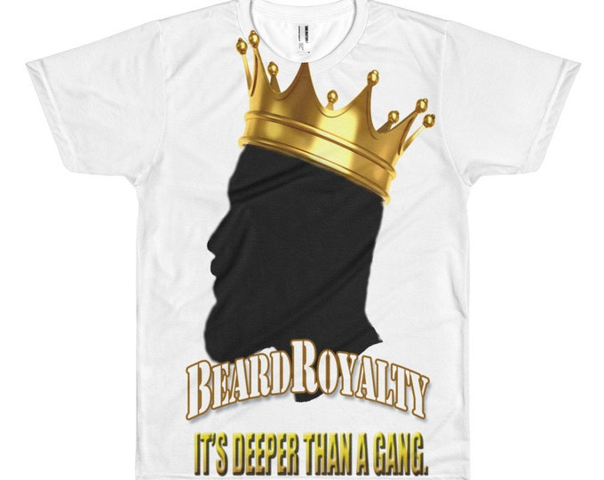 Beard Royalty Men's Tee, Beard Short sleeve Men's t-shirt, Birthday Gift for Men, Father's Day Gift, Beard Gang Gift