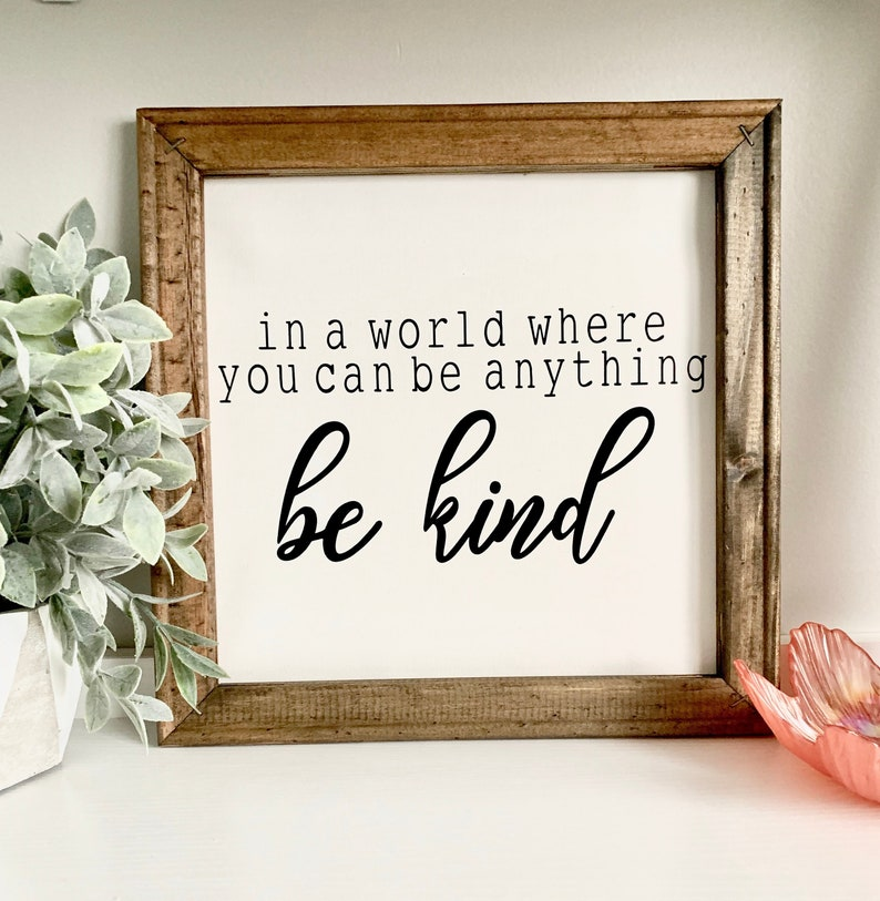 Be Kind Be Kind Quotes Canvas Art Canvas Painting Canvas Decor Wall Art Wall Hanging Home Decor Room Decor Wall Painting