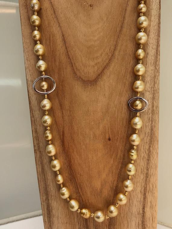 8ec4a83d2861b 8-11mm Golden South Sea Pearl Necklace 38
