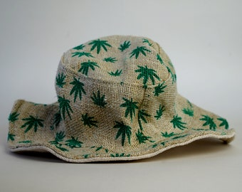 100f2ab8bd5 Hemp Hat Cannabis Pattern