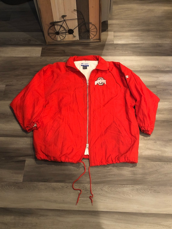 Scarlet Red Buckeyes Champion Long Raincoat - image 1