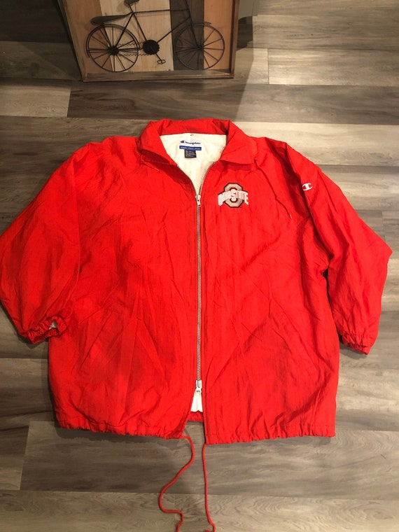 Scarlet Red Buckeyes Champion Long Raincoat - image 2