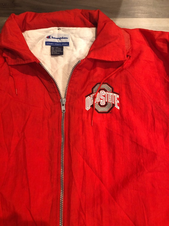Scarlet Red Buckeyes Champion Long Raincoat - image 3