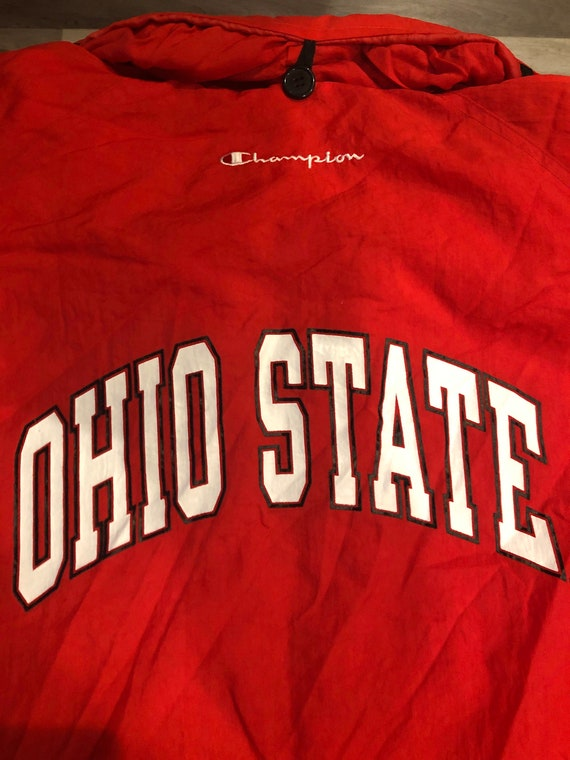 Scarlet Red Buckeyes Champion Long Raincoat - image 7