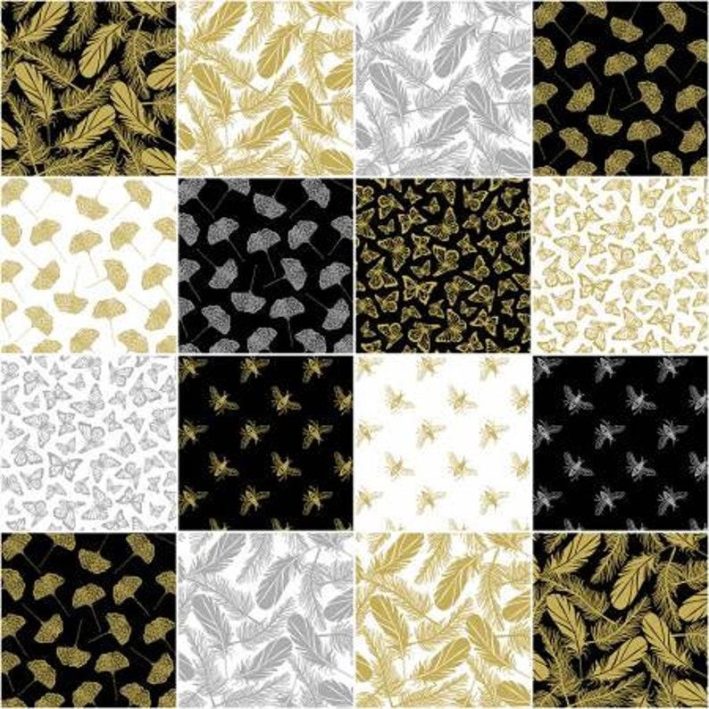 Precious Metal Fabric Fat Quarter Bundle from Windham Fabrics
