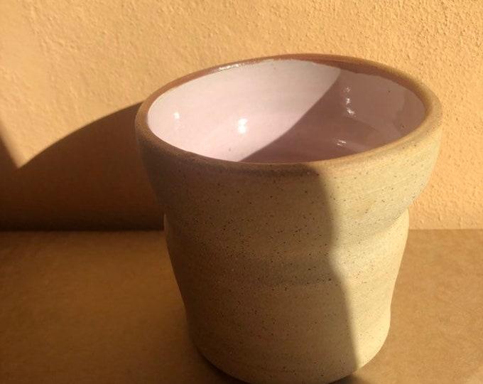 Raw pink vase