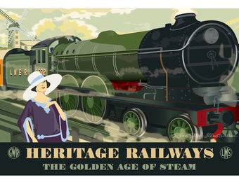 b3cd2aa2eb61 Steam train gift | Etsy
