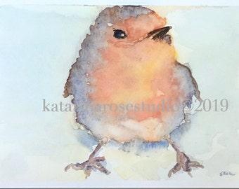 Watercolor Robin Giclée Print