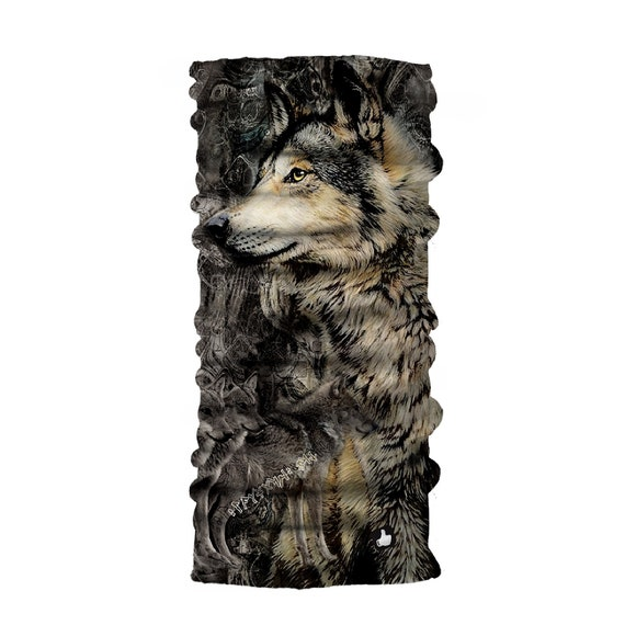 Wolf Animals Print Reusable Face Head Scarf Neck Gaiter Tube Headband Balaclava