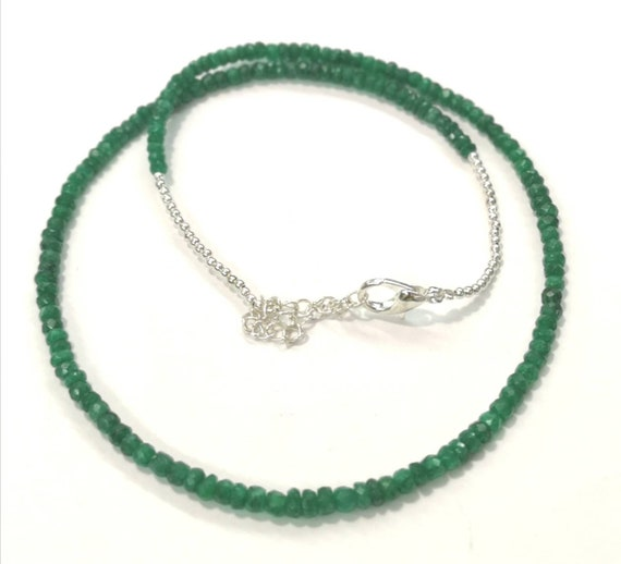 Bariyal emerald faceted beads. 4mm to 6mm.