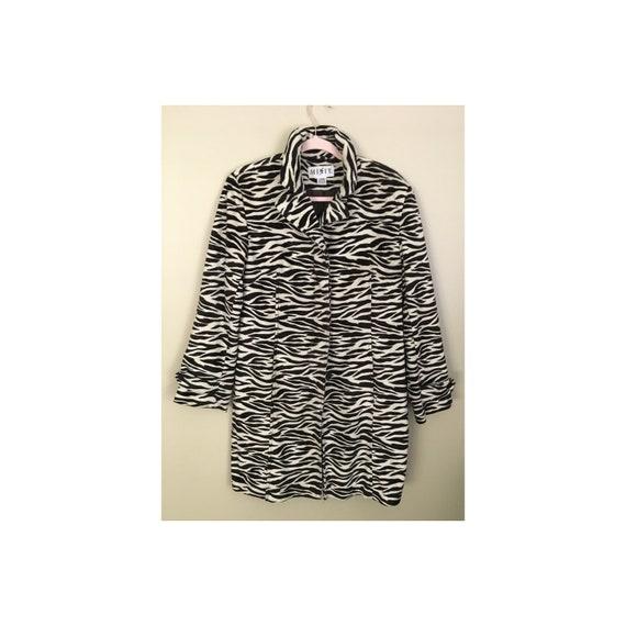 Vtg Zebra Print Coat