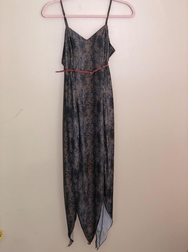 Vintage snake print pixie cut dress 90s