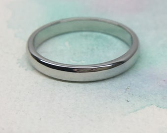 3e4292420 Mint Tiffany & Co. Lucida Platinum Pt950 Classic Wedding Band Ring 3mm  #7.25 RP1150