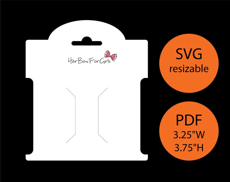 Bow display card SVG PDF Bow template cut file Cricut Bow card image 0