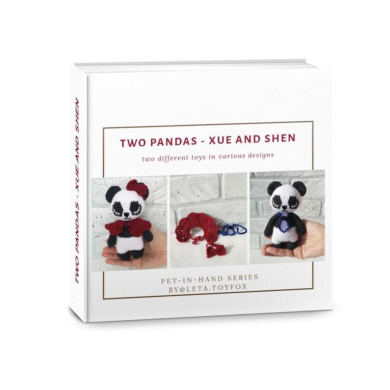 Amigurumi panda pattern crochet panda bear couple english printable pdf