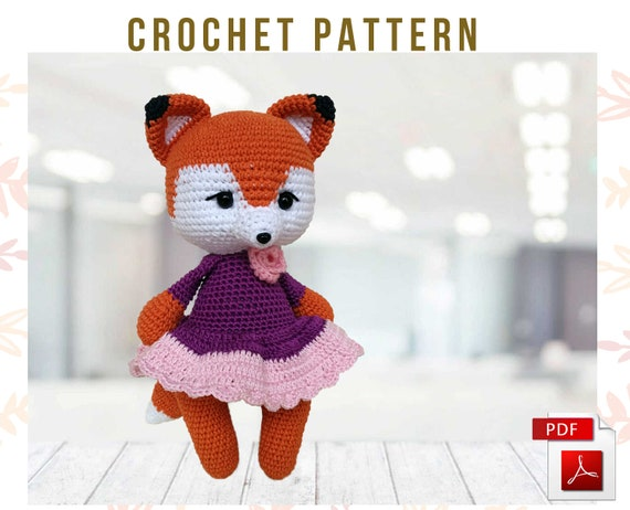 Crochet Fox Pattern (English only) | Fuchs häkeln, Fuchs muster ... | 462x570