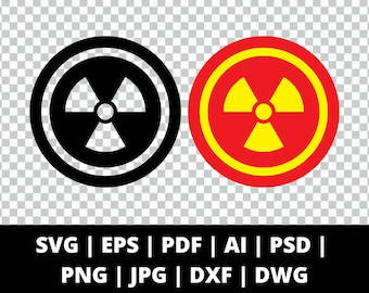 Hazard Symbol - 9 File Types - Cricut or Silhouette Die Cut Sublimation Clip Art Graphics - Instant Digital Download