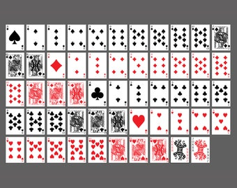 Card Deck Graphic Overlay PNGs | White and Transparent Backgrounds