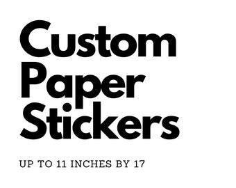 Customized Matte Standard Paper Stickers - Die Cut, Kiss Cut, or Shape Cut