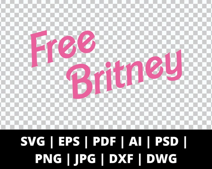 Free Britney Spears Text - 9 File Types - Cricut or Silhouette Die Cut Sublimation Clip Art Graphics - Instant Digital Download