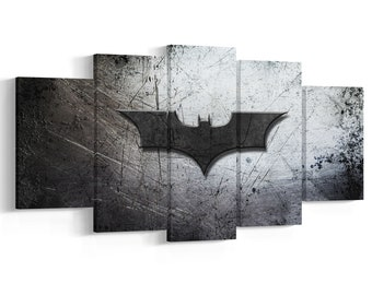 Batman Logo Painting Etsy