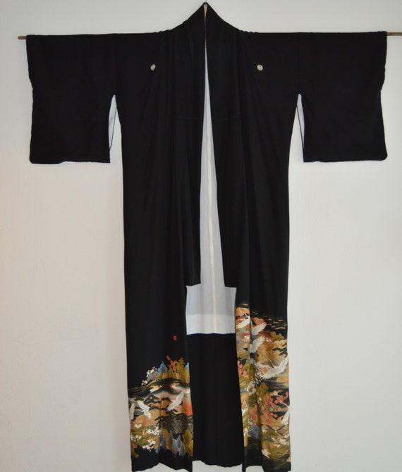 Kurotomesode / Kimono / Japanese Kimono japanese k
