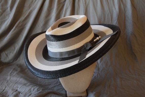 Greyscale Vintage Summer Hat