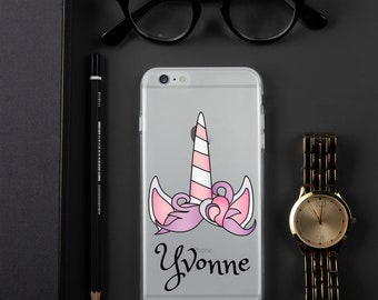 c01c83a837 Custom or Personalized transparent or clear unicorn iPhone Case