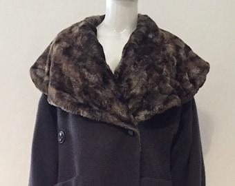 cappotto Byblos donna vintage anni   80 taglia 42 colore verde oliva CASUAL  cappotto che donna made in italy af1266ec7d0