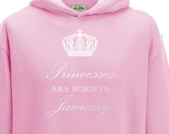 Juko Princesses Are Born In December Hoodie Girls Princess Hoody