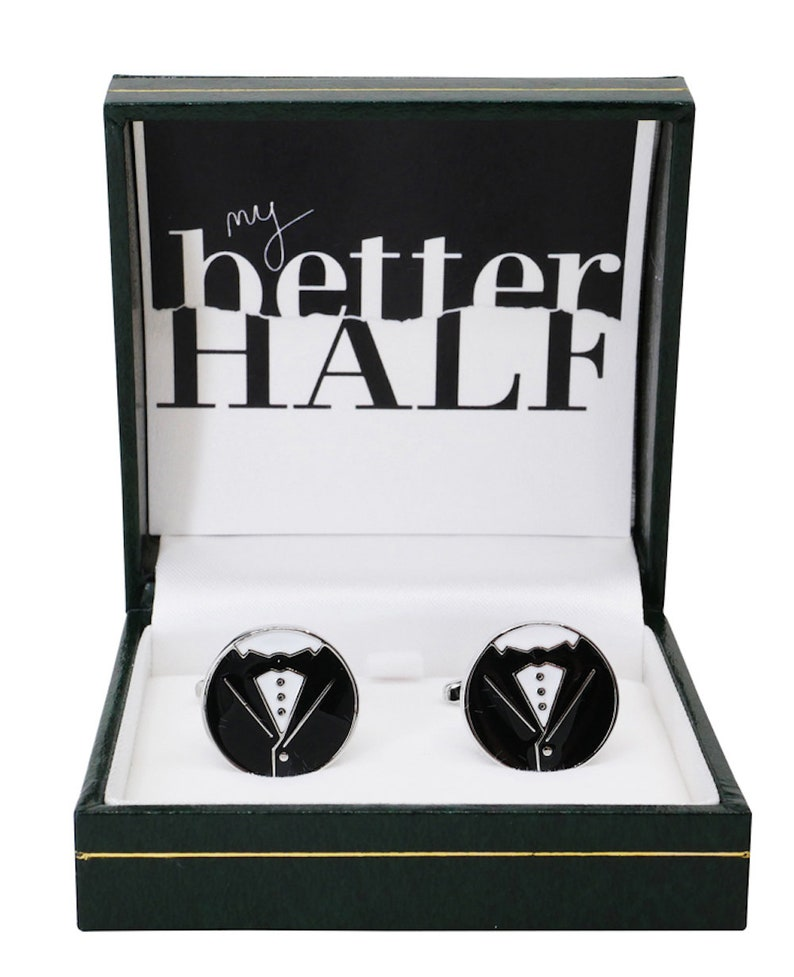 Dinner Suit Cufflinks For Husband Groom My Better Half Cuff Links