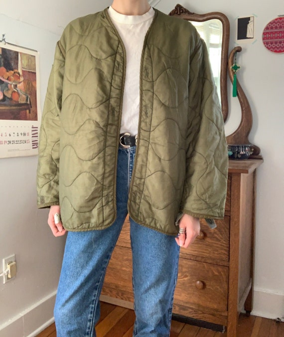 Vintage US Army Military Liner Jacket / Size Small