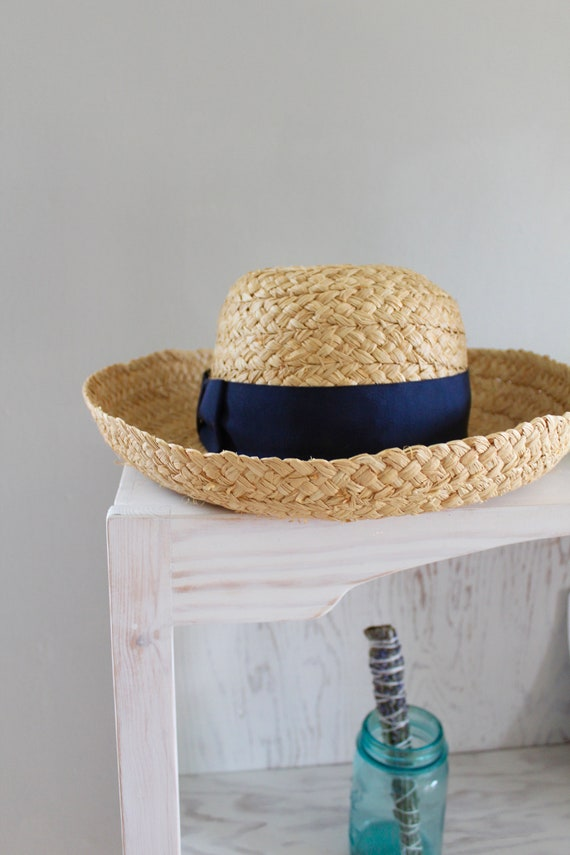 Brooks Brothers Straw Hat | Vintage Spring Hat wit