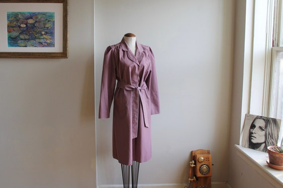 Lavender Trench | Foxland by Lanson Coat | Purple