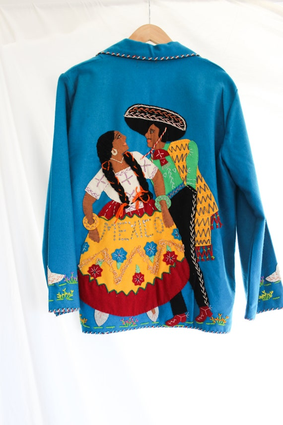 1940s Hand Stitched Mexican Jacket | 100% Wool | … - image 9