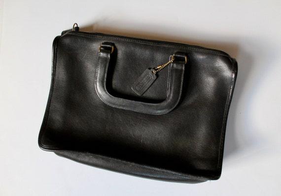 Vintage Coach Bag | Black Leather | Vintage Purse