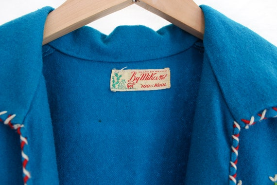 1940s Hand Stitched Mexican Jacket | 100% Wool | … - image 10
