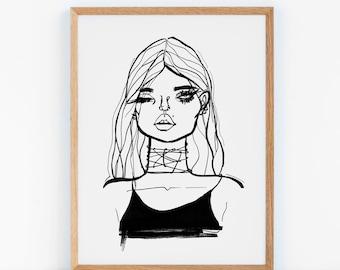 Art Print (Poster) - Catwalk Bleu Blanc Rouge