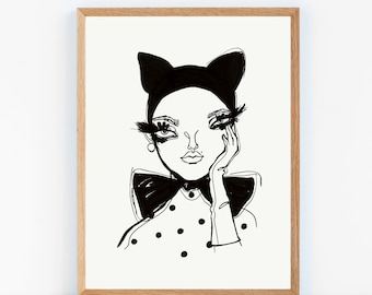 Art Print (Poster) - Chat Noir