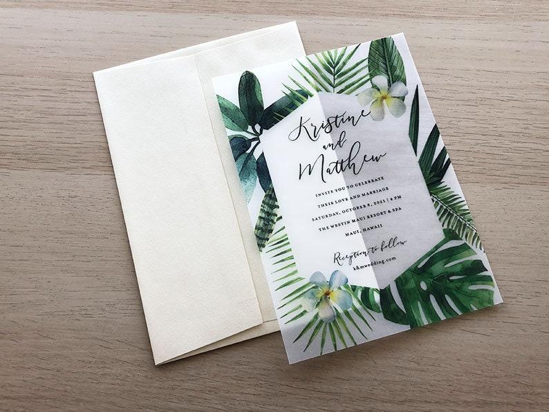 Tropical Invitation Sample Vellum